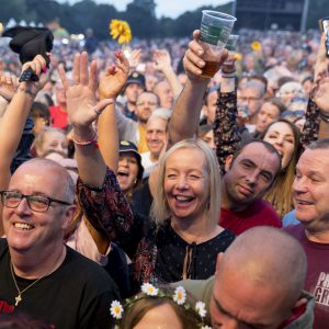 James performs at Party At The Palace Music Festival in Linlithgow Palace grounds on Sat 11th August 2018.Alan Rennie/ EEm